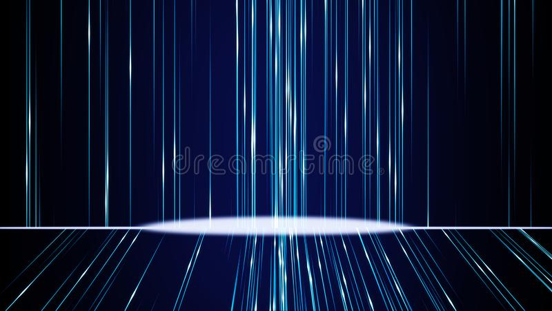 Blue color abstract backgrounds digital line flow with glitter stock photography