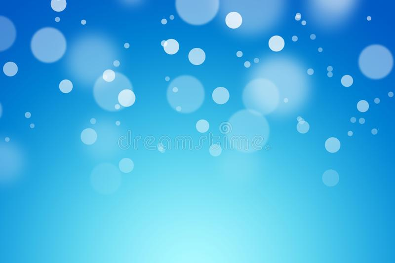 Blue color background with bokeh. royalty free stock photography