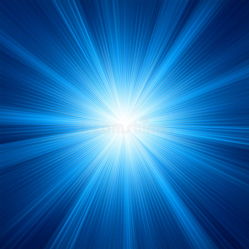 A Blue color design with a burst. EPS 8 stock illustration