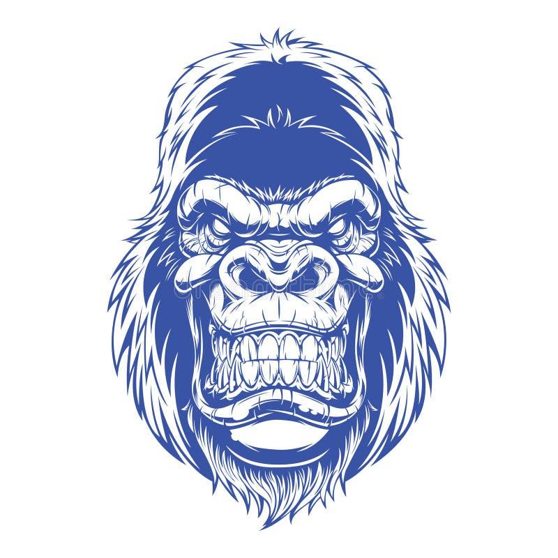 Free Blue Color Ferocious Gorilla Vector Stock Photos - 220319653