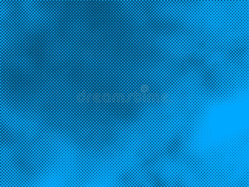 Blue color halftone comic book cover background dotted gradient empty blank design element retro texture design royalty free stock photo