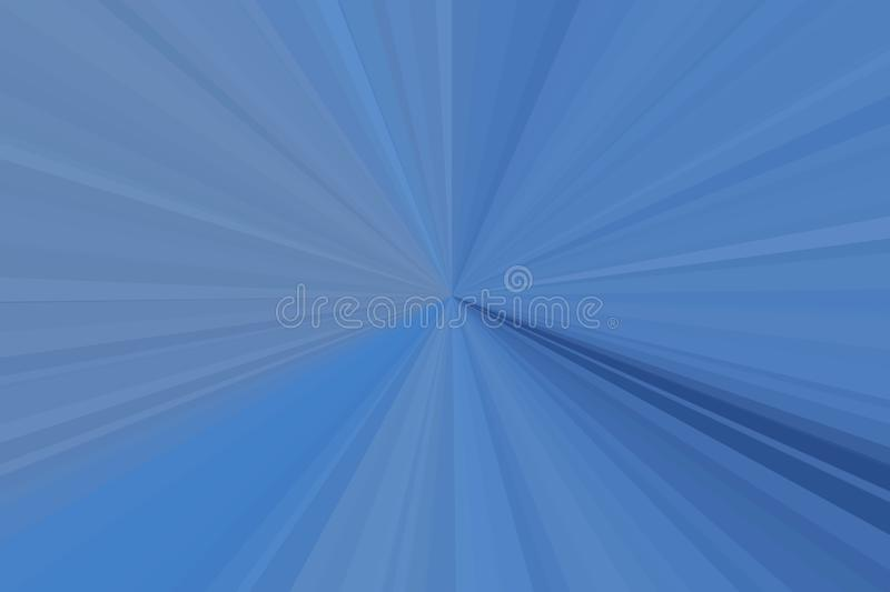 Blue color rays of light abstract background. Stripes beam pattern. Stylish illustration modern trend colors. royalty free stock image