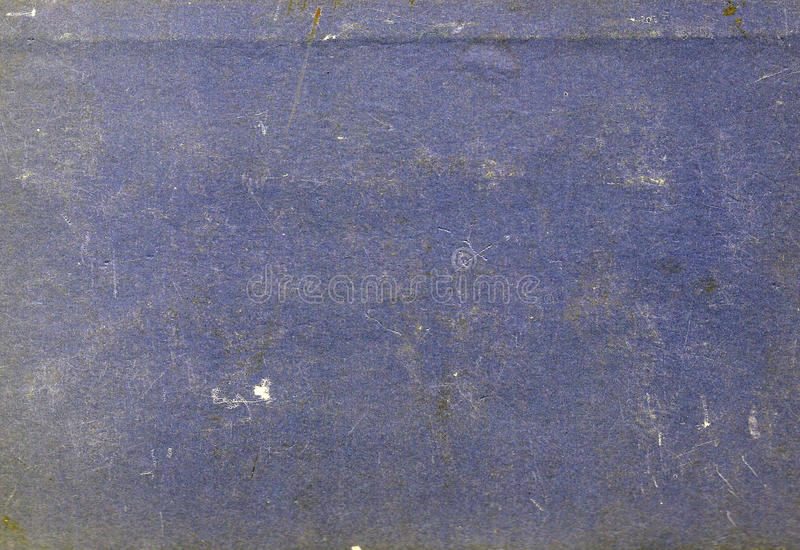 Blue color scratched paper texture. stock image