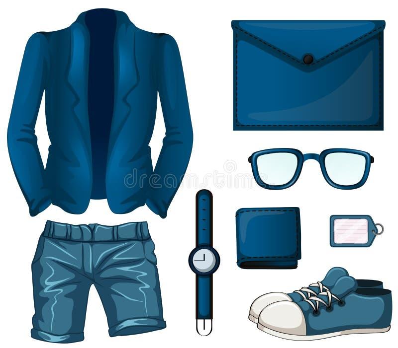 Blue color set flashcard royalty free illustration