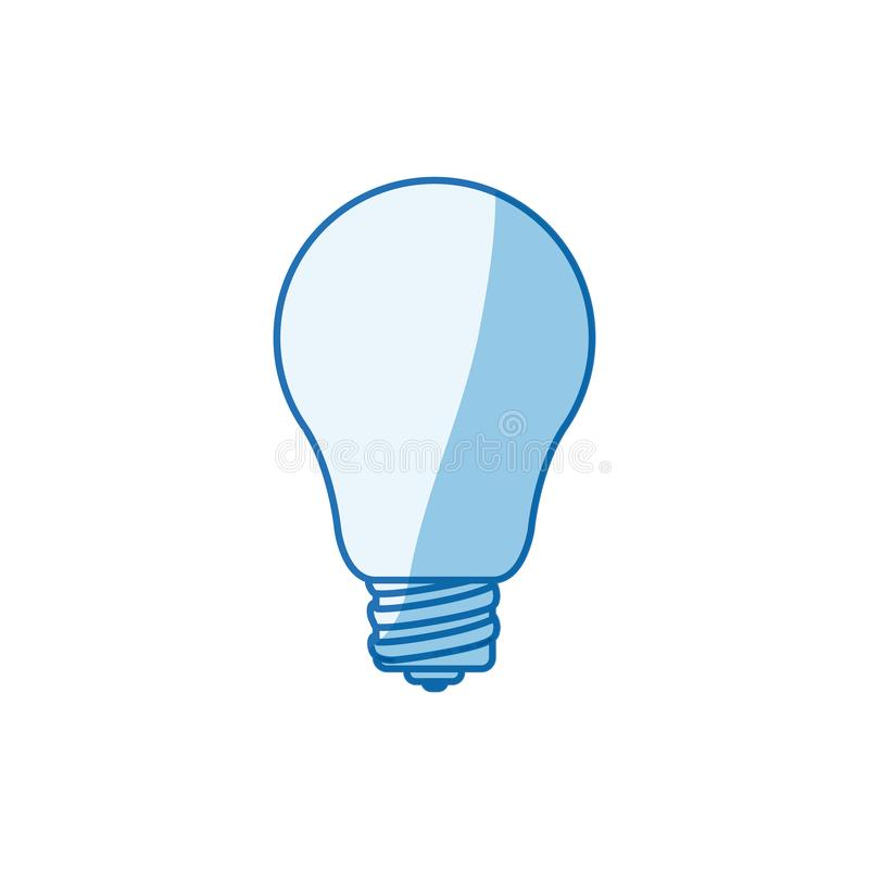Blue color shading silhouette light bulb icon vector illustration