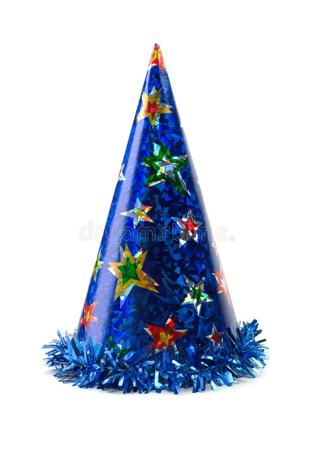 Blue colored cap birthday. royalty free stock photos
