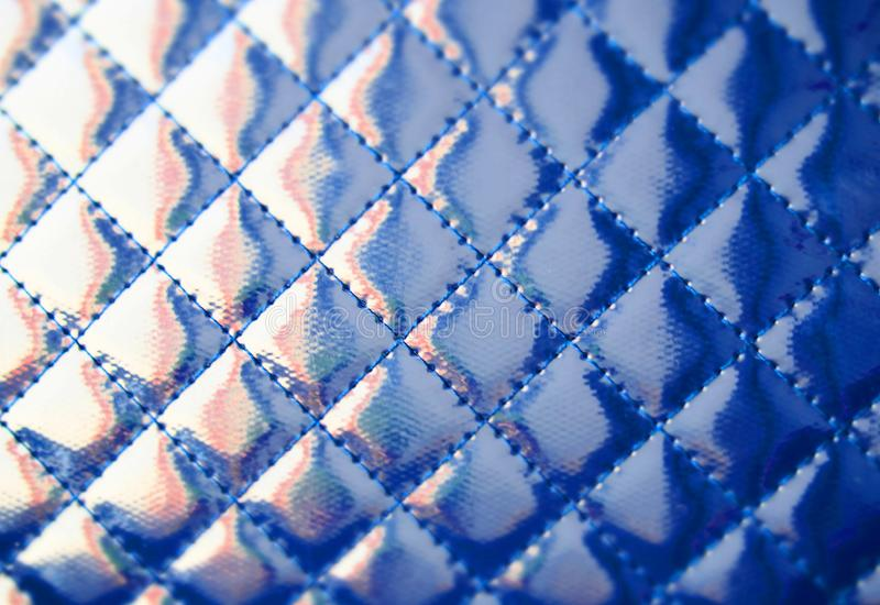 Blue colored leather texture. Natural material background. Color of the year 2018 concept royalty free stock photos