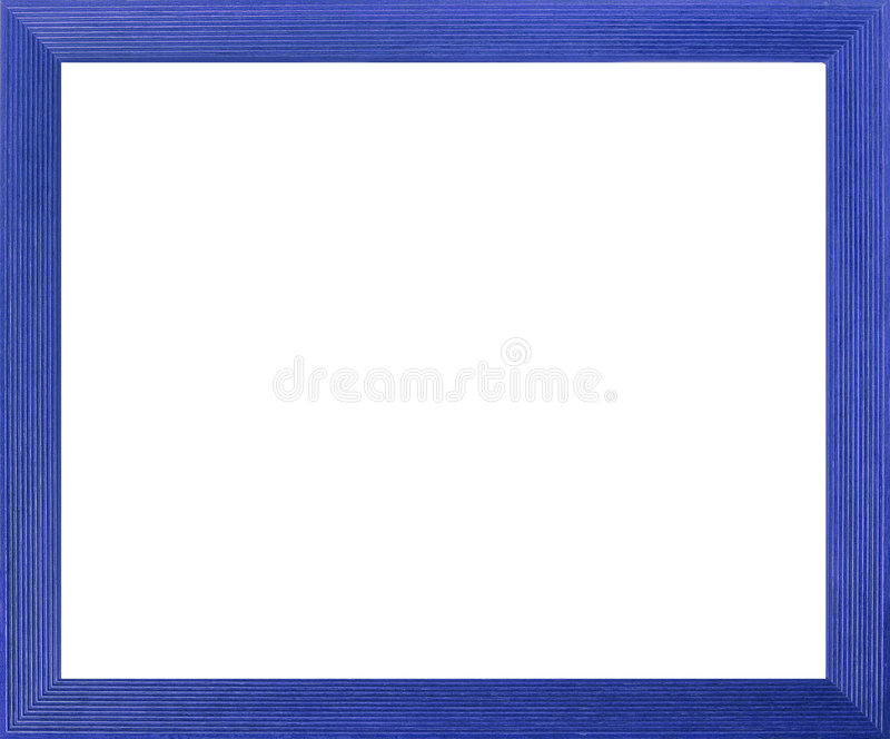 Blue Colored Picture Frame stock illustration