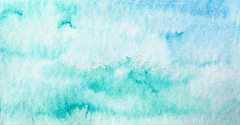 Blue colorful background. Abstract blue background. Watercolor illustration royalty free illustration