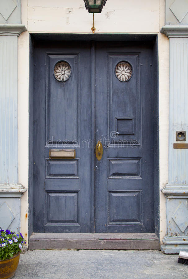 Free Blue Colorful Door In Old House Stock Photo - 38065740