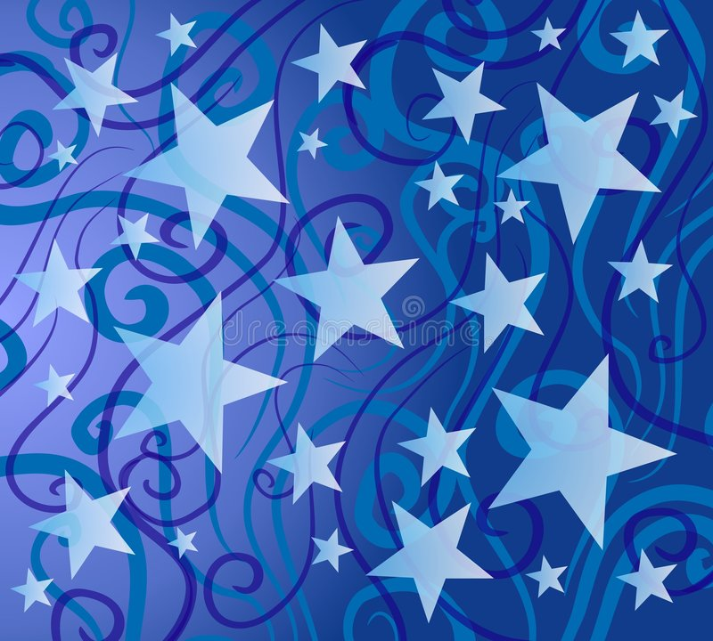 Blue Colorful Stars Pattern vector illustration