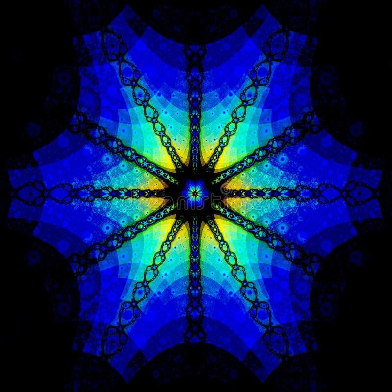 Download Blue-coloured Rosette stock illustration. Illustration of background - 7392518