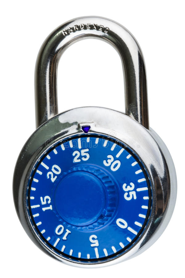Download A Blue Combination Pad Lock Stock Photo - Image: 29310276