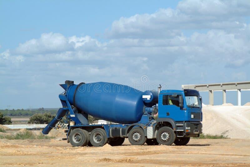 Download Blue concrete truck mixer stock photo. Image of cement - 1555268