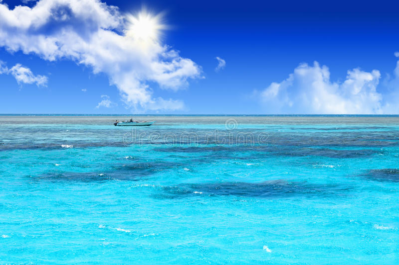 Blue coral water of a Red Sea royalty free stock image