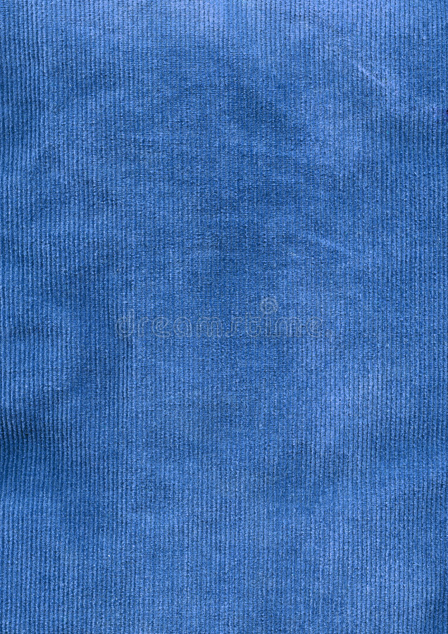 Blue Corduroy Fabric Detail stock photo