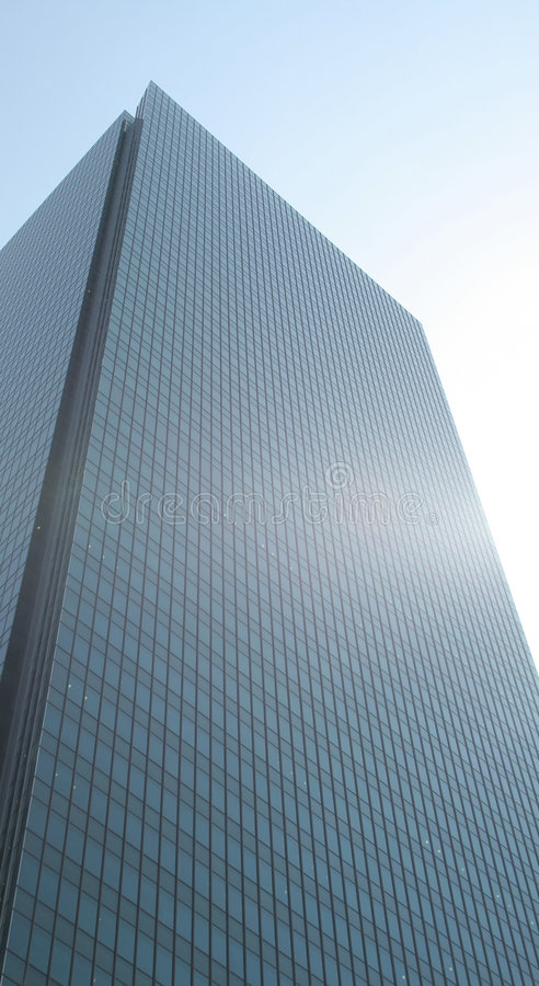 Blue Corporate Building in a Blue Sky royalty free stock photos