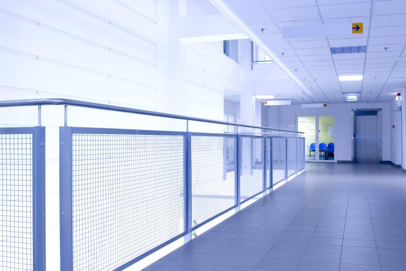 Blue corridor (abstract)
