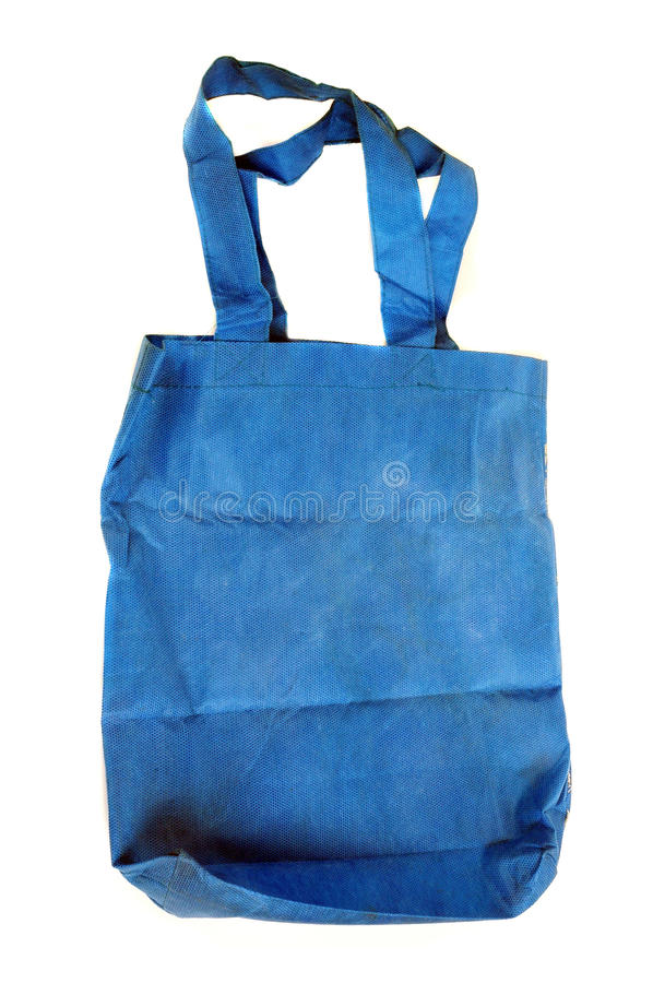 Download A blue cotton bag stock image. Image of container, consumerism - 20143473