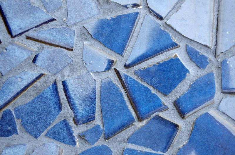 Download Blue Cracked Tiles In Grout Stock Photo - Image: 37863426