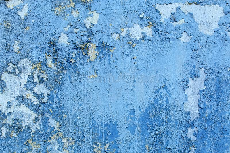 Blue crackle wall texture, color crackle background. Blue crackle wall texture, color crackle background royalty free stock photos
