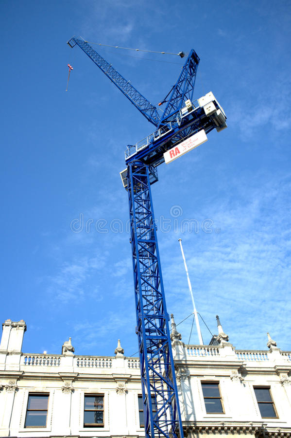 Free Blue Crane Tower In Royal Academy Of Arts Royalty Free Stock Photography - 30683547