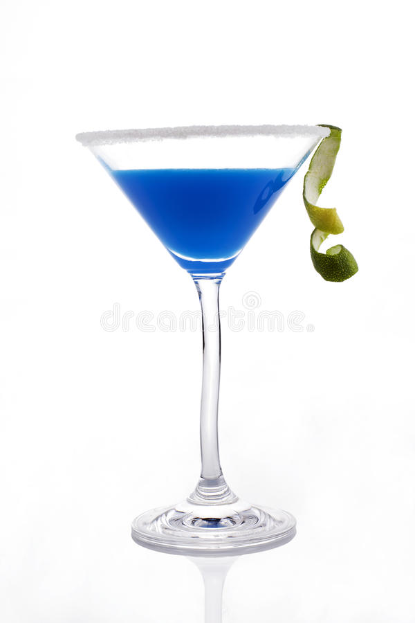 Download Blue Creamy Cocktail Isolated. Stock Image - Image: 20750591