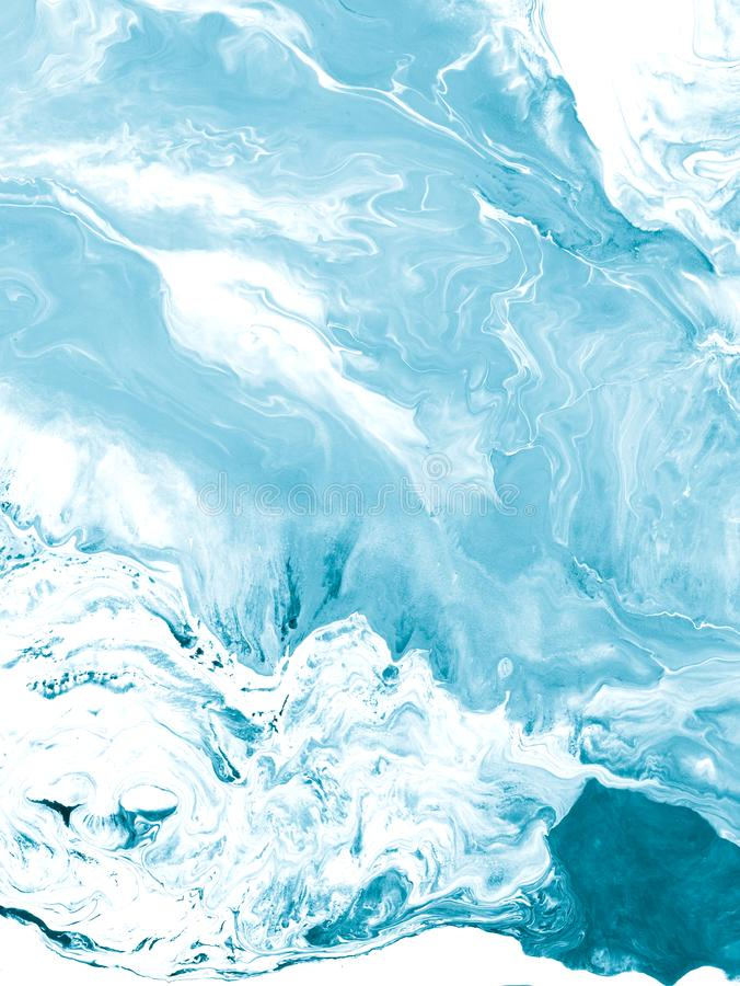 Blue creative abstract hand painted background, marble texture,. Abstract ocean, fragment of acrylic painting on canvas. Modern art. Contemporary art royalty free stock photos