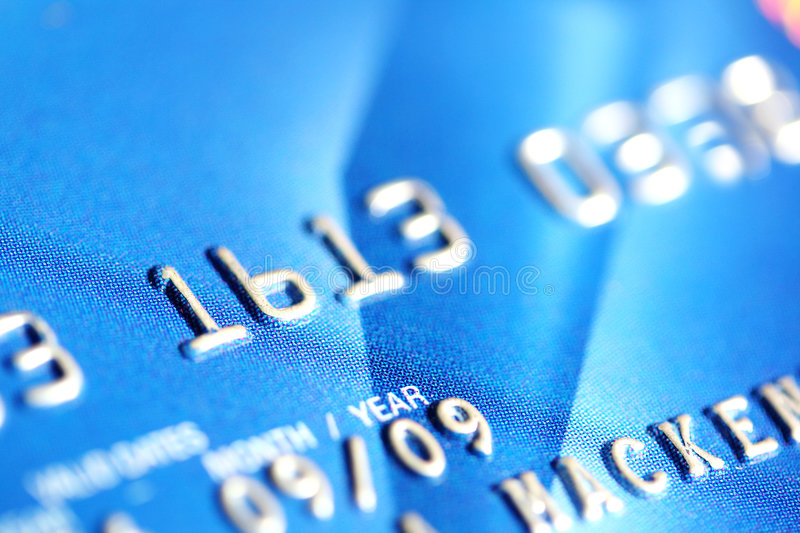 Blue Credit Card stock image