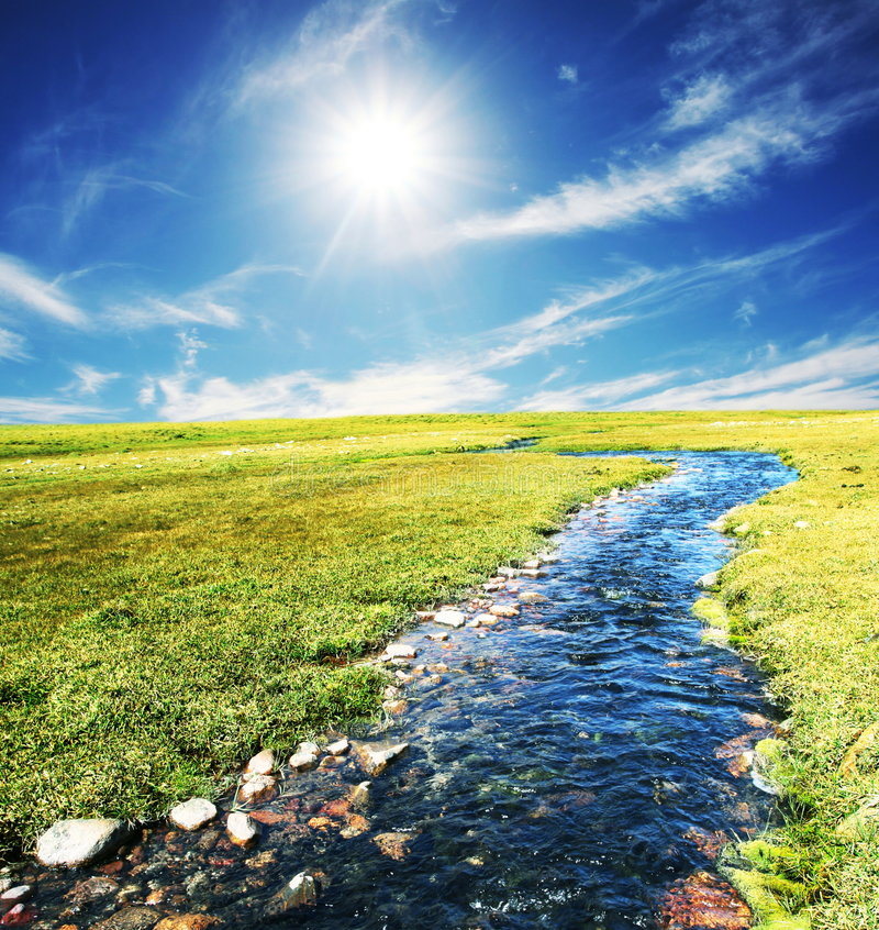 Download Blue creek stock photo. Image of water, nature, travel - 6485428