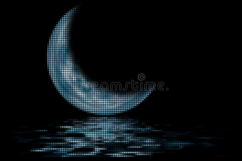 Blue Crescent royalty free stock images