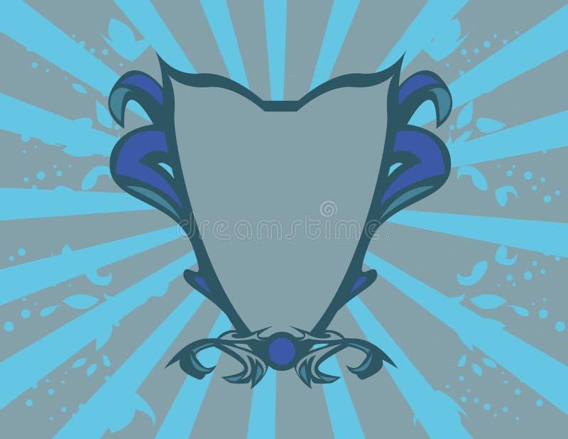 Blue crest vector illustration