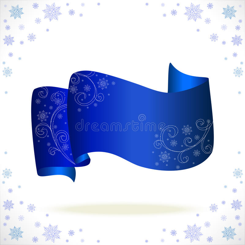 Download Blue Cristmas Tape With Freezing Pattern Stock Vector - Image: 27713058