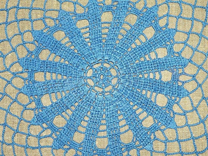 Download Blue crochet stock image. Image of handywork, background - 9500055