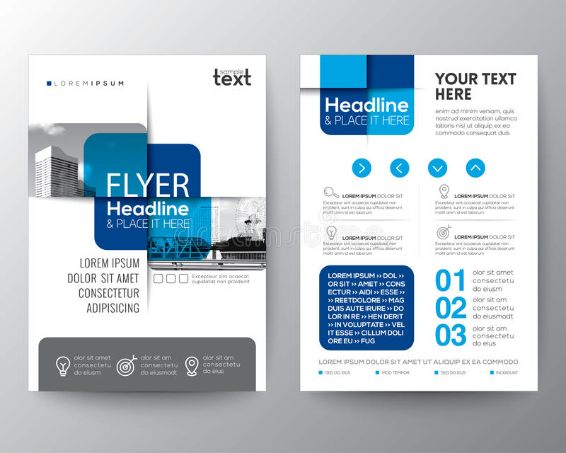 Blue cross graphic element Brochure cover Flyer Poster design Layout. Vector template in A4 size stock illustration