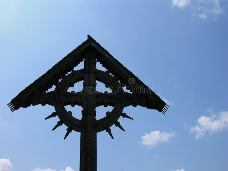 Blue Cross Niebo Fotografia Stock