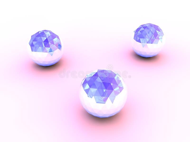 Blue crystal spheres