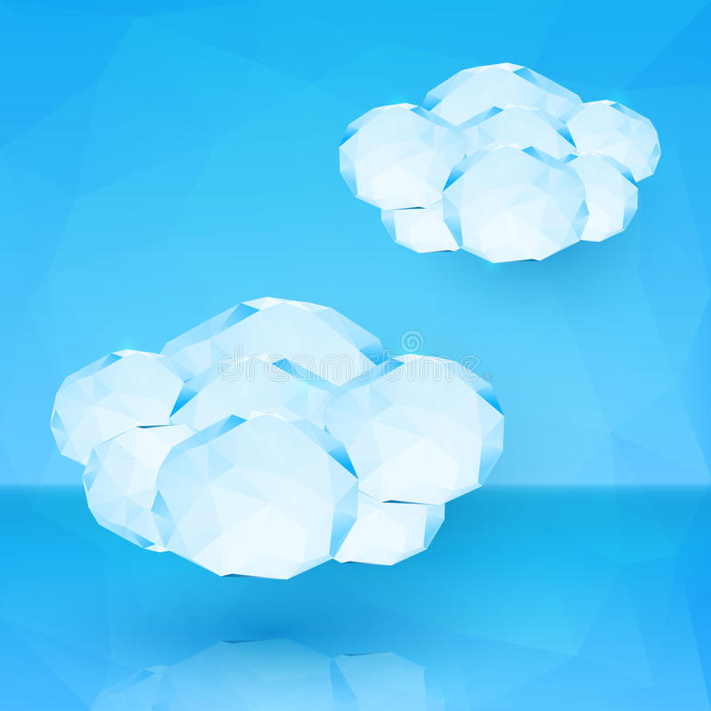 Blue crystal vector clouds stock illustration