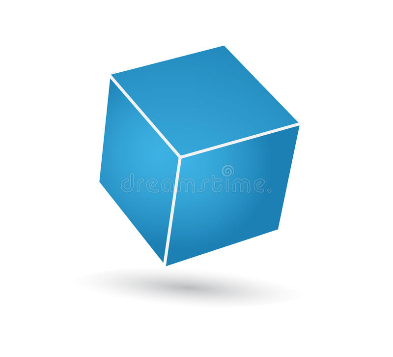 Blue cube royalty free illustration