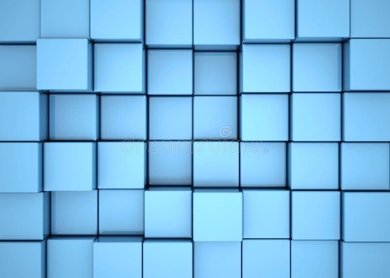Blue cube background stock image