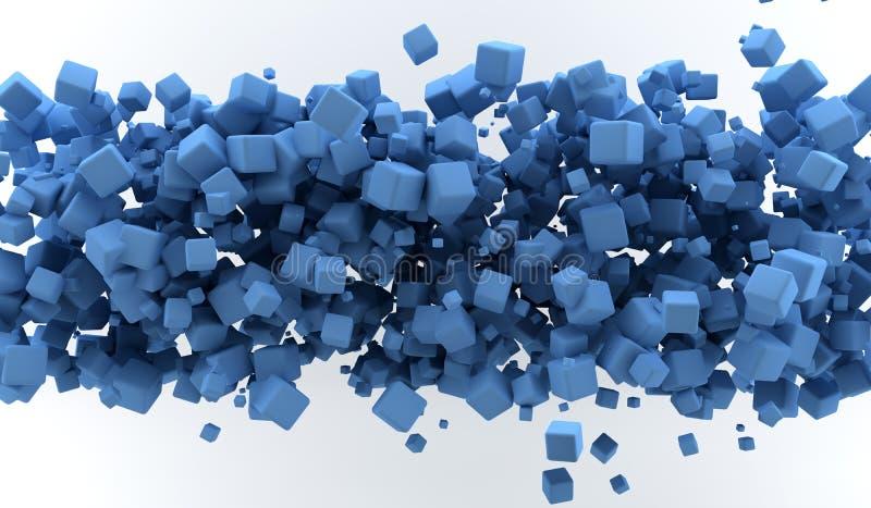 Download Blue cubes stock illustration. Image of decoration, blue - 19203690