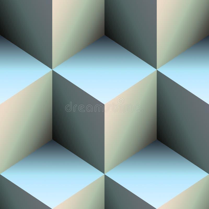 Blue cubes stock illustration