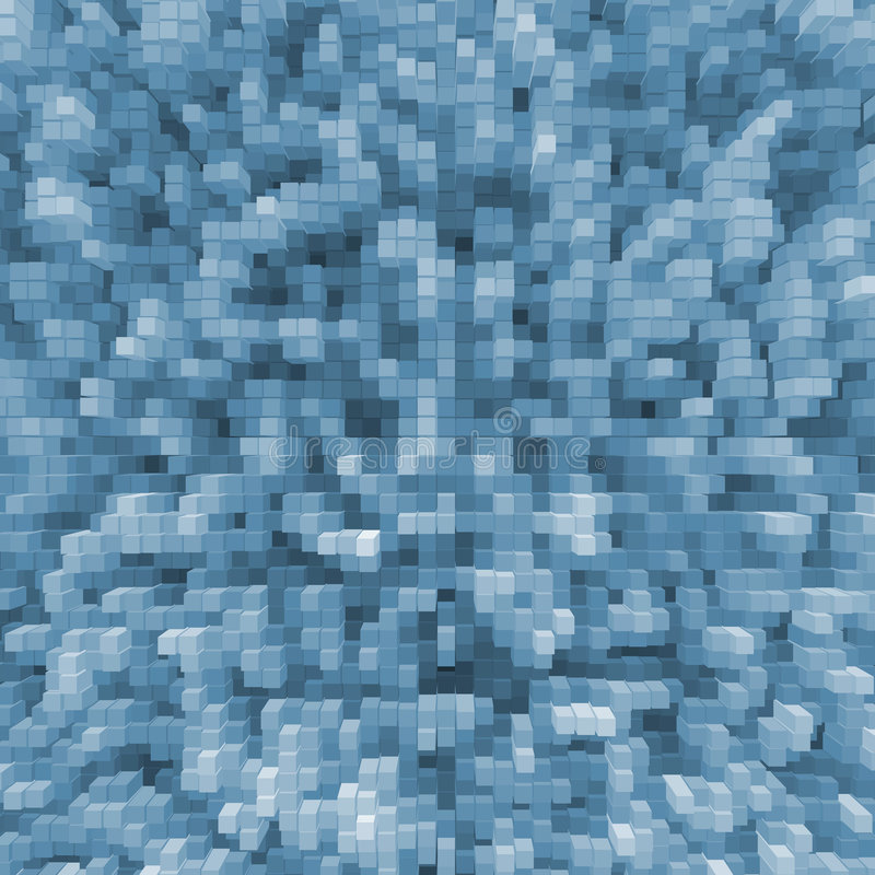 Blue cubes stock image