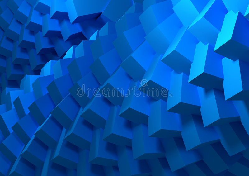 Blue cubes abstract royalty free illustration