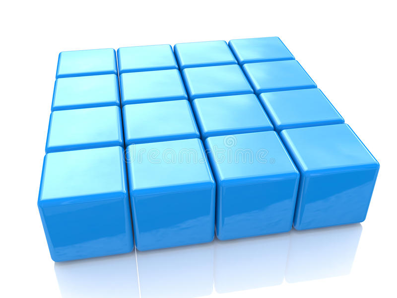 Blue cubes royalty free stock photos