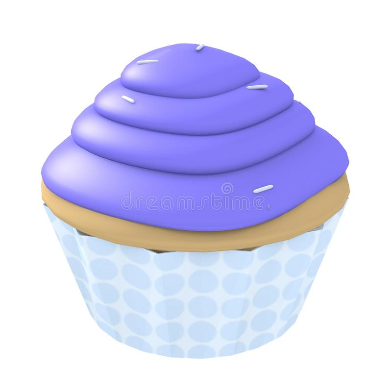 Blue cupcake - 3d computer generated vector illustration
