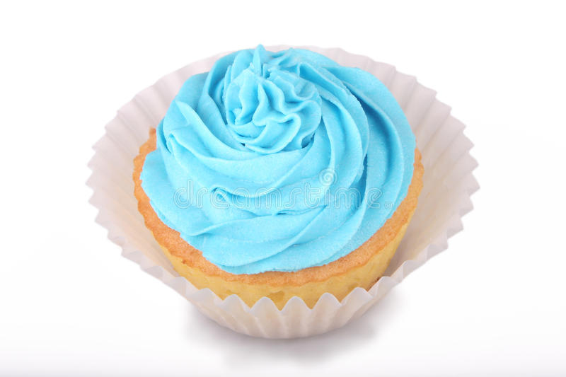 Blue Cupcake stock images