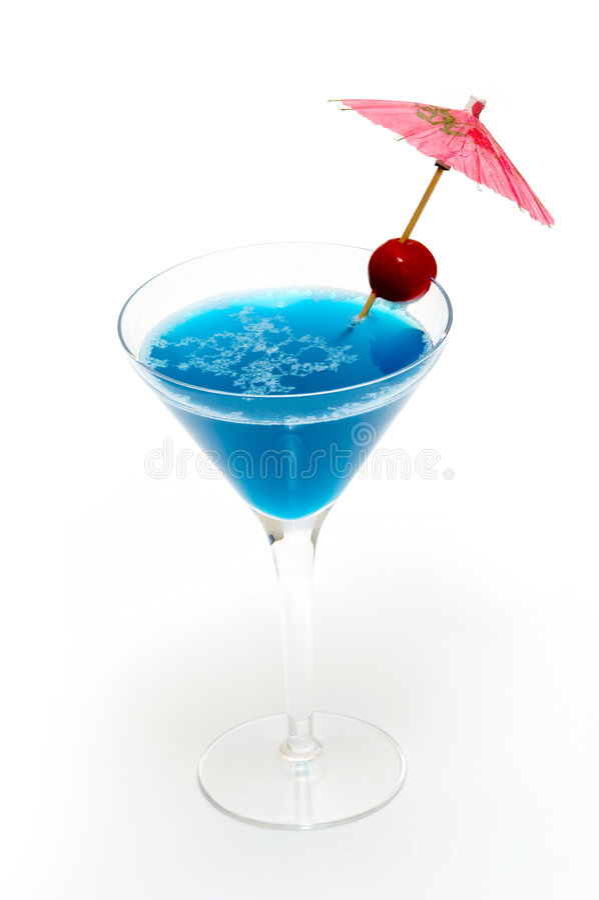 blue Curacao koktajl zdjęcia royalty free