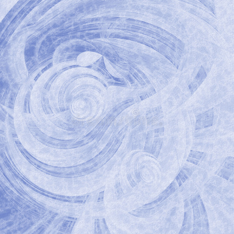 Blue Curl Striped Abstract Royalty Free Stock Image