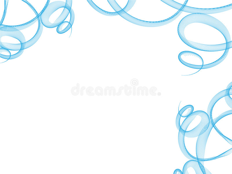 Download Blue Curled Ornate On White Stock Vector - Image: 6014132